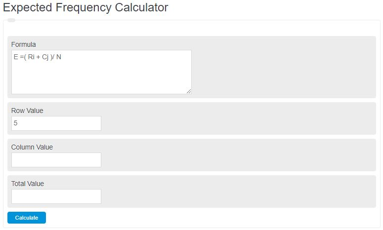 expected frequency calculator