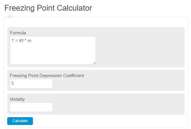 freezing point calculator