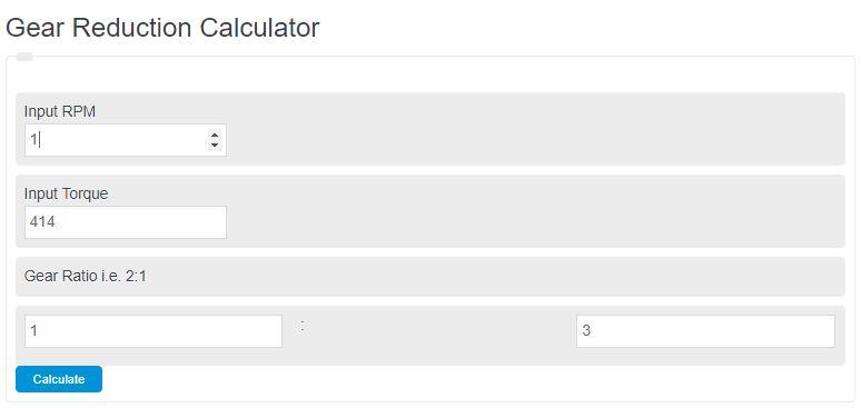gear reduction calculator