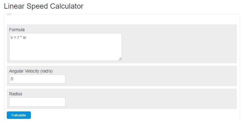 linear speed calculator