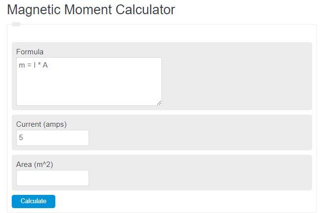 magnetic moment calculator