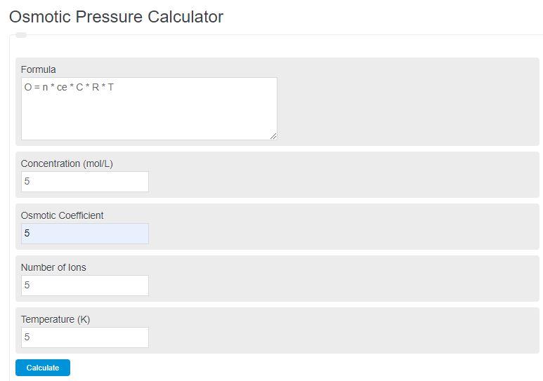 osmotic pressure calculator