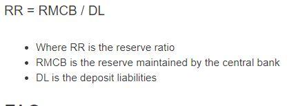 reserve ratio formula