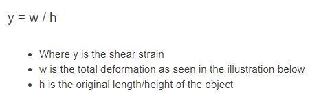 shear strain formula