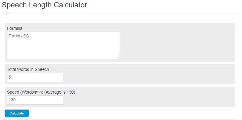 speech length calculator