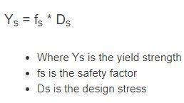 yield strength formula