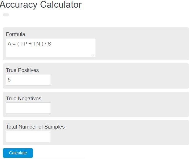 accuracy calculator