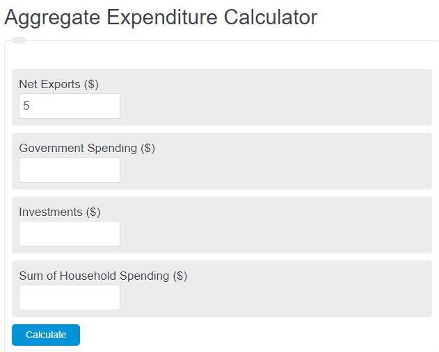 aggregate expenditure calculator