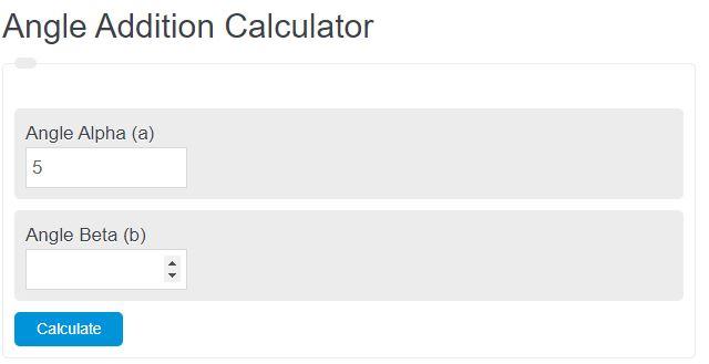 angle addition calculator