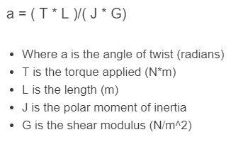 angle of twist formula