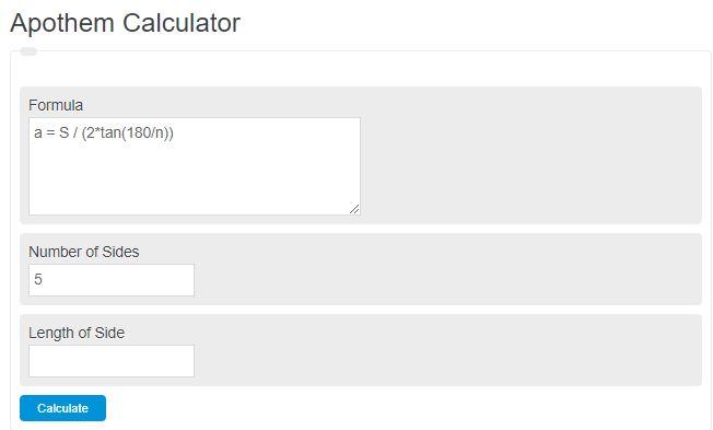 apothem calculator