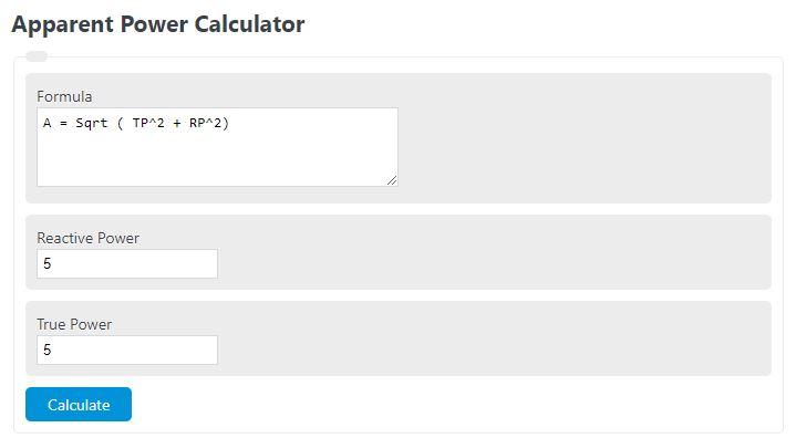 apparent power calculator