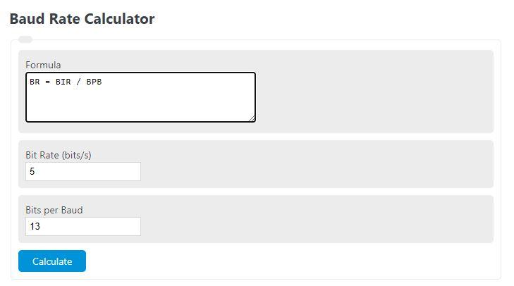 baud rate calculator