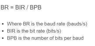 baud rate formula