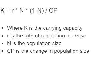 carrying capacity formula