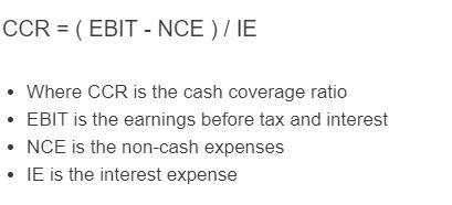 cash coverage ratio formula