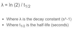 decay constant formula