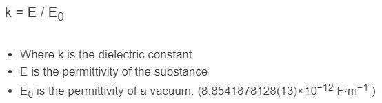 dielectric constant formula
