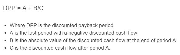 discounted payback period formula