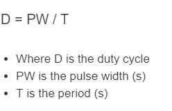 duty cycle formula
