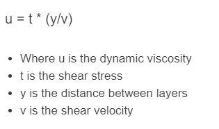 dynamic viscosity formula