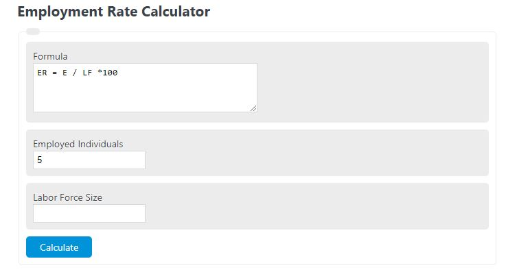 employment rate calculator