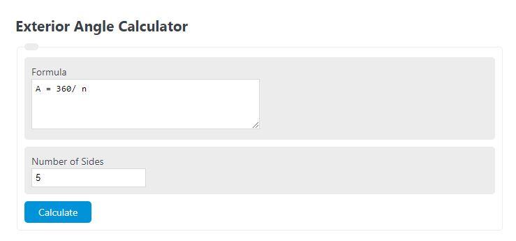 exterior angle calculator