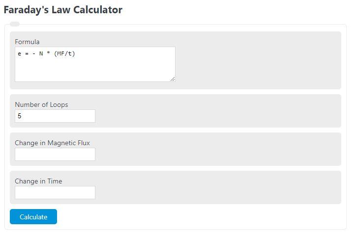 faraday's law calculator