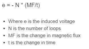 faraday's law formula