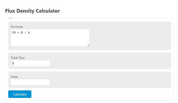 flux density calculator