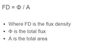 flux density formula