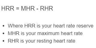 heart rate reserve formula