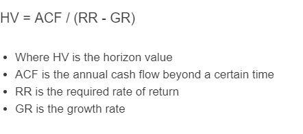 horizon value formula