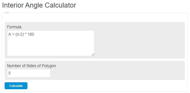 interior angle calculator
