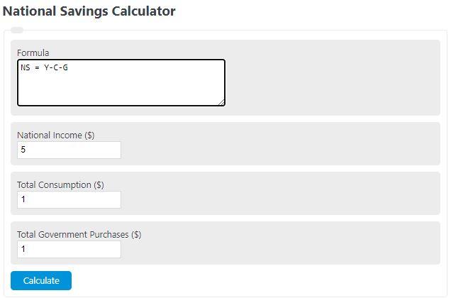 national savings calculator