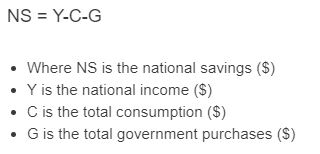 national savings formula