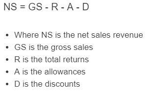 net sales revenue formula