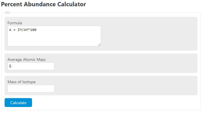 percent abundance calculator