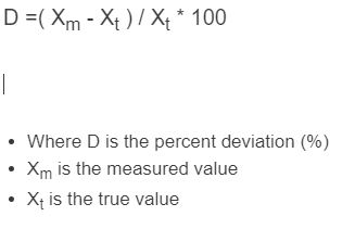 percent deviation formula