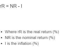 real return formula