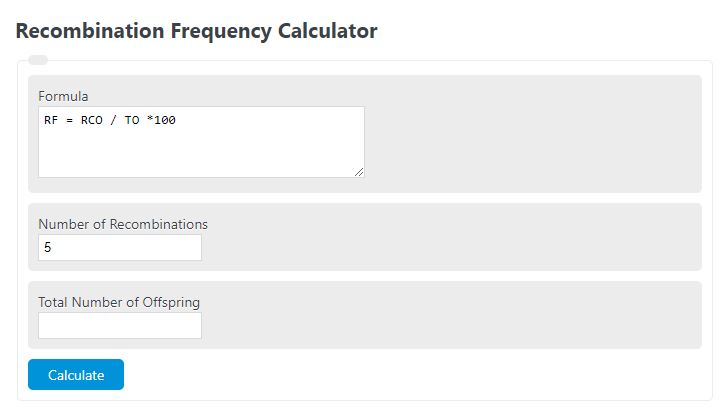 recombination frequency calculator