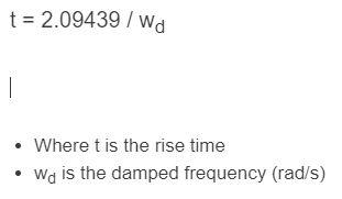 rise time formula