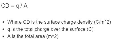 surface charge density formula