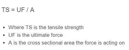 tensile strength formula