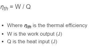 thermal efficiency formula