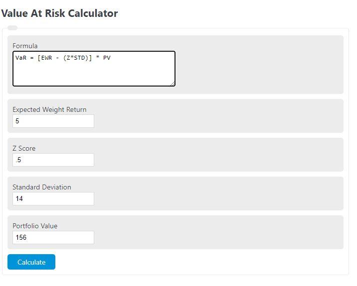 value at risk calculator