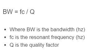 bandwidth formula