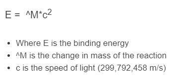 binding energy formula