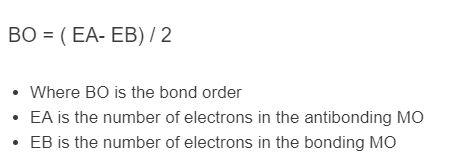 bond order formula