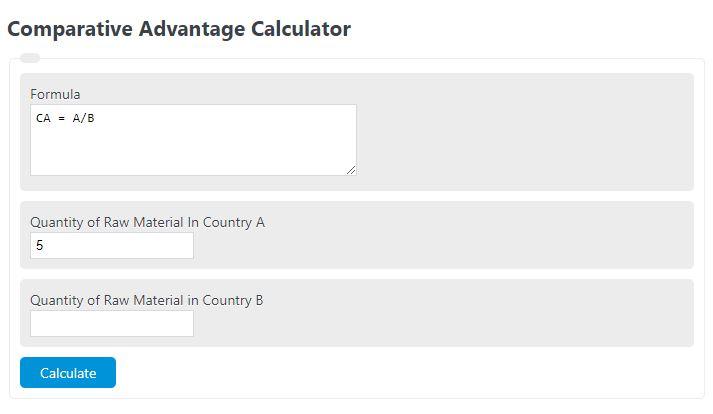 comparative advantage calculator
